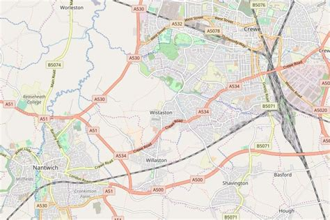 Interactive Map Of Crewe And Nantwich, Cheshire, United