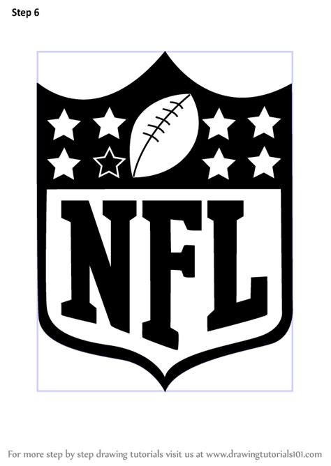 Learn How to Draw NFL Logo (NFL) Step by Step : Drawing