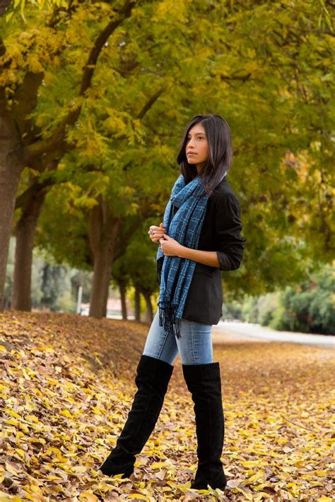Wearing Thigh High Boots for Fall