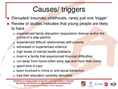 A research perspective on causes and triggers of youth