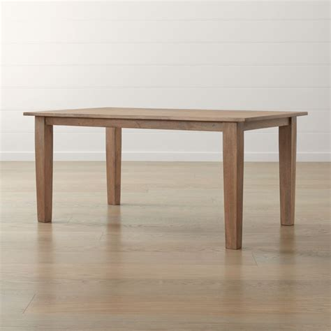 """Basque Grey Wash 65"""" Dining Table + Reviews   Crate and Barrel"""