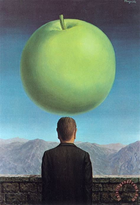 rene magritte The Postcard 1960 painting - The Postcard