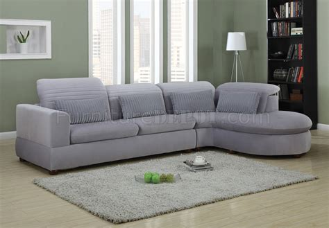 Oron Sectional Sofa in Grey Ultra Plush 50230 by Acme