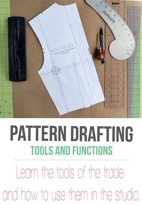 Pattern Drafting: Basic Tools and their function - Isn't