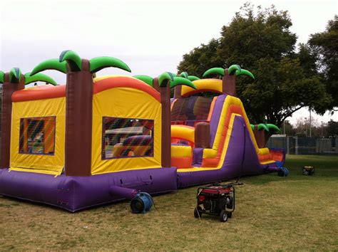 Tropical Obstacle Course to Rent   Jumper Slide Course