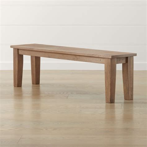 """Basque Grey Wash 62"""" Bench in 2020   Crate and barrel"""