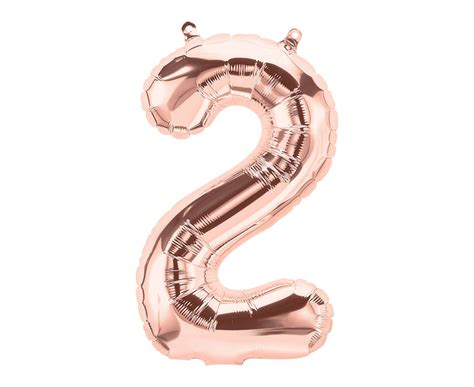 Inflated Rose Gold 26 Inch Balloon Numbers By Bubblegum
