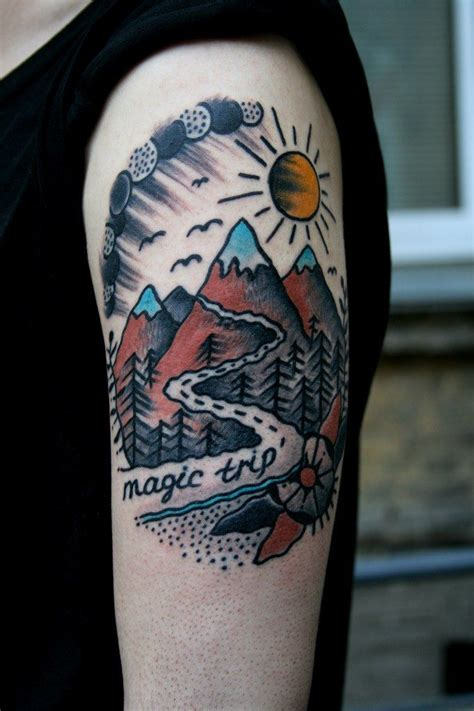 Mountain Tattoos Designs, Ideas and Meaning | Tattoos For You