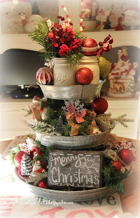 Hometalk   How To Make A Galvanized Tiered Tray Christmas