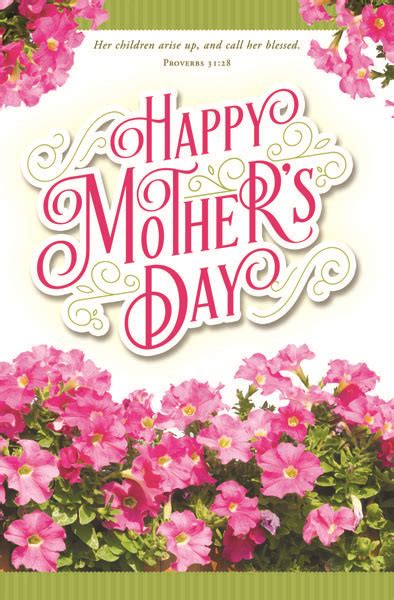 """Church Bulletin 11"""" - Mothers Day - Happy Mother's Day"""