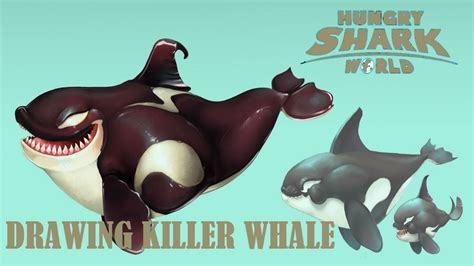 Drawing Killer Whale from Hungry Shark World - YouTube