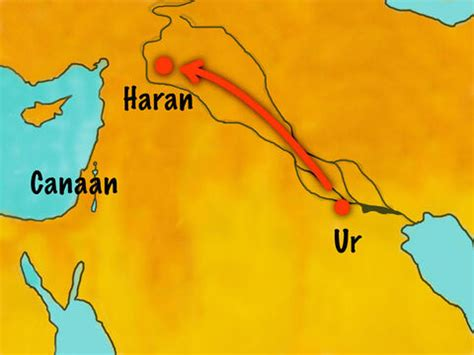 FreeBibleimages :: Abram (Abraham) moves to Canaan