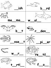 missing letter in words worksheets - Google Search