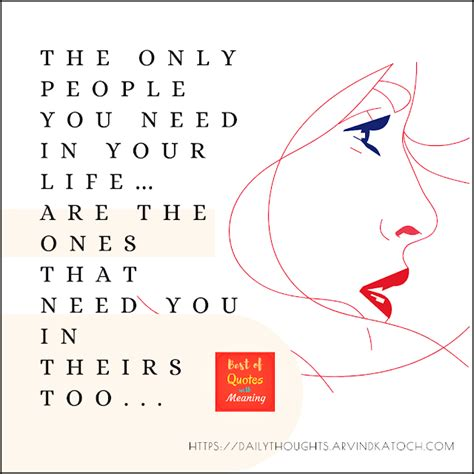 Daily Thought Image (The only way that we can live, is if
