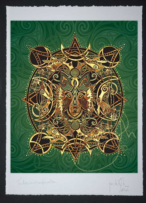 Celtic Wolf Moon - Celtic Art Limited Edition Giclee Print