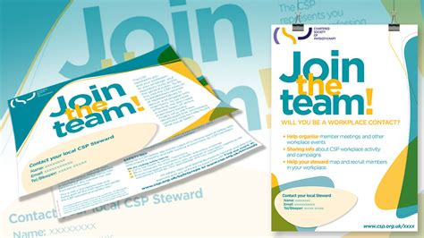 Personalized leaflets and posters for workplace reps | The